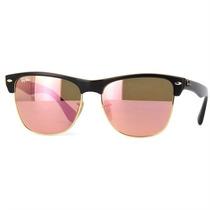 Óculos Ray Ban Clubmaster Feminino Lente Rosa Espelha