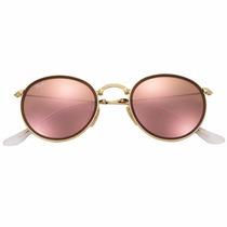 Óculos De Sol Ray Ban Round Dobrável Rb3517 001/93 Feminino