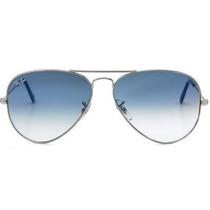 Ray Ban Aviador Rb3025 Prata Azul Degradê Frete Gratis