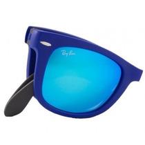 Rayban 4105 - Dobrável Wayfarer Azul - Espelhado