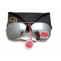 Óculos Rb3027 Aviador Large Prata Lente Prata Espelhado
