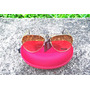 Óculos De Sol Modelo Aviador - Lentes Marrom Claro
