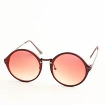 Óculos De Sol Madeira Redondo Vintage Hipster