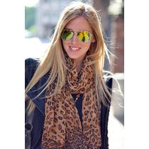 Oculos De Sol 3025 Dourado Lentes Amarelas Espelhadas