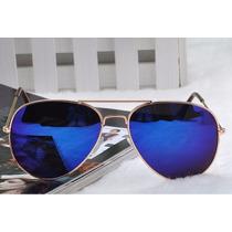 Óculos De Sol Estilo Aviador - Proteção Uv400 Lindo Este Mod
