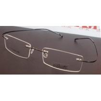 Armação Oculos De Grau Flexivel Silhouette Titanium Grafite