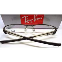 Armação Óculos De Grau Modelo Rb6124 Preta, Prata Ou Grafite