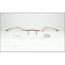 Armação De Titanium Óculos De Grau Marrom Sem Aro - A570