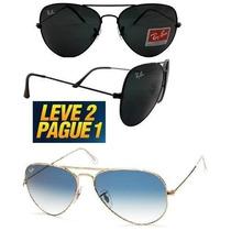 Óculos Rayban Aviador Rb3025/26 Compre 1 Leve 2 Frete Gratis