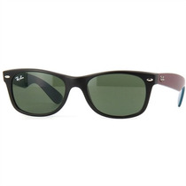 Óculos De Sol Masculino New Wayfarer Preto Fosco