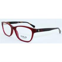 Óculos De Grau Polo Ralph Lauren Acetato Bordeaux
