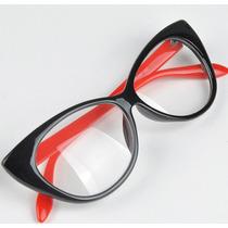 Óculos Armação De Grau Cat Eye Gatinho Vintage