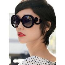 Óculos De Sol Escuro Retrô Feminino Moderno Lindo Barato!