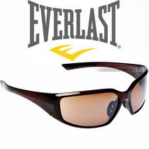 Óculos De Sol Masculino Everlast Marrom Acetato Original