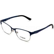 Armação De Óculos De Grau Fem. Vogue Metal Azul E Lilás
