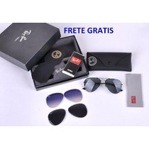 Ray Ban Flip Out Tech Polarizado Aviador Original 3460