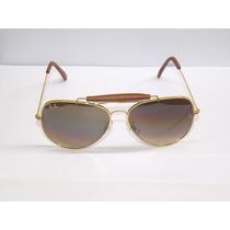 Óculos Caçador 3422q Dourado Lente Marrom Degrade