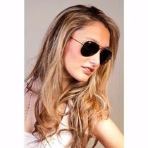 Óculos Aviador Ray Ban 3024 Original Preto E Brinde!!!