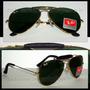 Óculos Caçador 3422q Dourado Lente Verde Couro Preto
