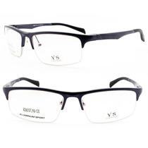 Armação Óculos Esportivo Curvado Em Alumínio P/ Grau - 4395
