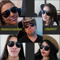 6 Oculos De Sol Estilo Aviador Moderno Masculino + Brindes