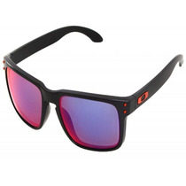 Oculos Oakley Holbrook Matte Black/red Positive Iridium New