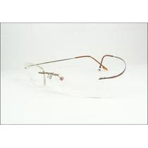 Armação Marrom Feita De Titanium Óculos De Grau Sem Aro A576