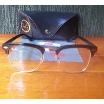 Óculos Clubmaster Lente Transparente