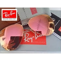 Rb - Aviador Rosé/dourado Espelhado 3026 (g)