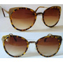 Óculos De Sol Gatinha Uv400 Metal Dourado Modelo Exclusivo T