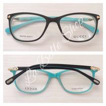 Armação Óculos De Grau Acetato Feminino Gg3732