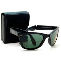 Oculos Rayban Rb4105 -2140 Wayfarer Black Piano Dobravel