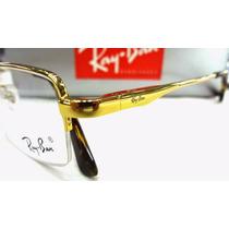Rb8652 Armação Óculos De Grau Dourada Com Tartaruga
