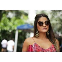 Óculos De Sol Retrô Exótic Redondo Estilo Miu Miu Frete Free