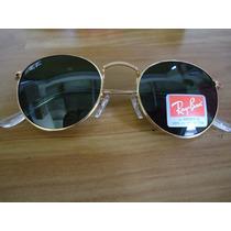 Óculos Jonh Lennon 3447 Dourado Lentes Verdes