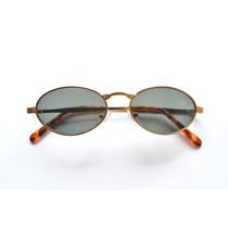 Óculos Oval Lentes Semi Redondas Unissex Prático Pequeno