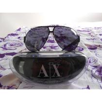 Óculos De Sol Aviador Armani Exchange Original Novo