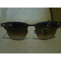 Óculos Clubmaster 3507 Aluminium Grafite Lentes Marrom Orig