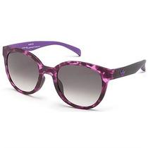 Óculos De Sol Adidas Originals Roxo Havana Lente Cinza