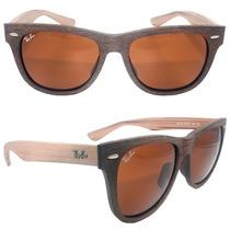 Oculos De Sol Ray Ban Wayfarer Madeira - Lançamento!!!