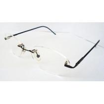 Armação Oculos Grau Titanium Sem Aro Preta Dobravel Import