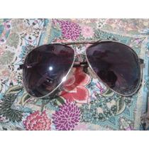 Óculos De Sol Aviador Guci Lentes Azulada Frete Grátis