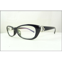 Armação Óculos De Grau Preta Fashion Feminina - A435