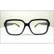Armação Óculos De Grau Preta Grande Quadrada Fashion - A513