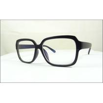 Armação Óculos De Grau De Grande Quadrada Preto Fosco - A512