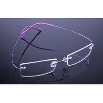 Armação Óculos De Grau Sem Aro Feita De Titanium Lilas A405