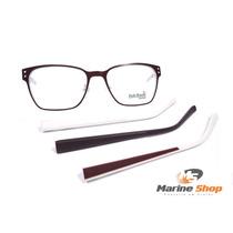 Óculos Retrô Vinho E Branco - Troca Hastes - Armação P/ Grau
