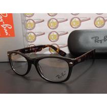 Armação Oculos Grau Rb5184 Wayfarer Marrom Tortoise Ray-ban