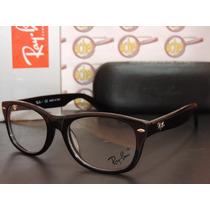 Armação Oculos Grau Rb5184 Wayfarer Preto Acetato Ray-ban