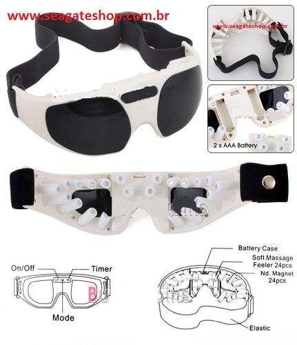 Oculos Massageador Eletrico Com Programa De Relaxamento
